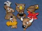 Set of 8 Wood Badge Critters